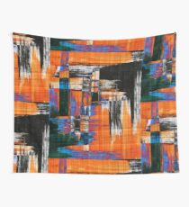 black blue and orange Wall Tapestry