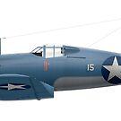 F4U-1 VMF-123 'Daphne-C' 1943 by artbyedo