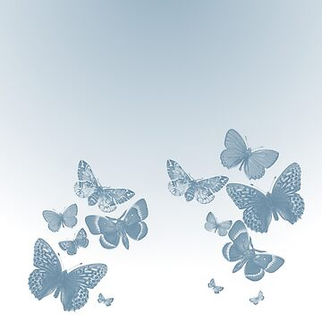 Blue Butterfly Swarm by Jayca