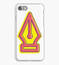 Pen Tool - Vintage Red/Yellow iPhone Case/Skin