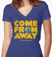 come from away Women's Fitted V-Neck T-Shirt