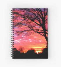 Etchings at Sunset Spiral Notebook