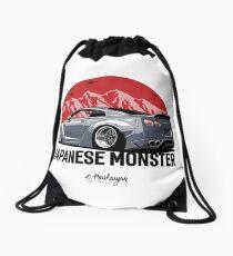 GTR. Japanese Monster (grey) Drawstring Bag