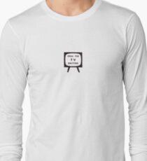 'Ideal for TV Knitting' Retro/Vintage Magazine Artwork Long Sleeve T-Shirt