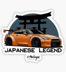 GTR. Japanese Legend (orange) Sticker