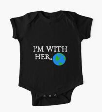 I'm With Her Earth Shirt Kids Clothes