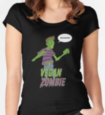 Vegan Zombie Women's Fitted Scoop T-Shirt