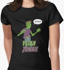 Vegan Zombie Women's Fitted T-Shirt