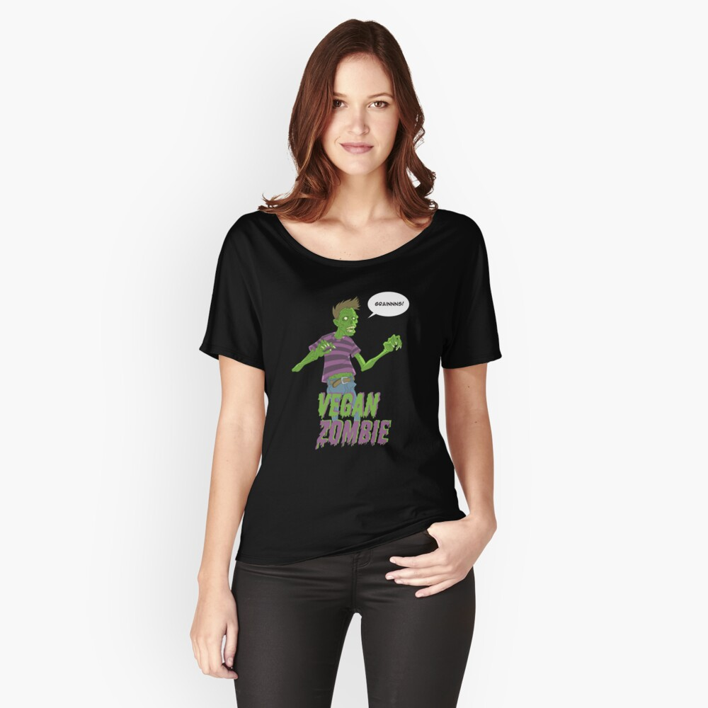 Vegan Zombie Women's Relaxed Fit T-Shirt Front