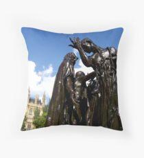 The Burghers of Calais, London Throw Pillow