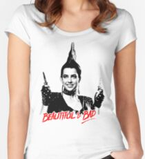 Beautiful & BAD (Nightmare on Elm Street 3: Dream Warriors) Women's Fitted Scoop T-Shirt