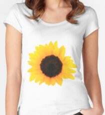 Sunflower Single Bloom Women's Fitted Scoop T-Shirt
