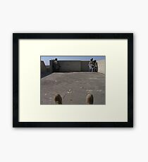 Rooftop security Framed Print