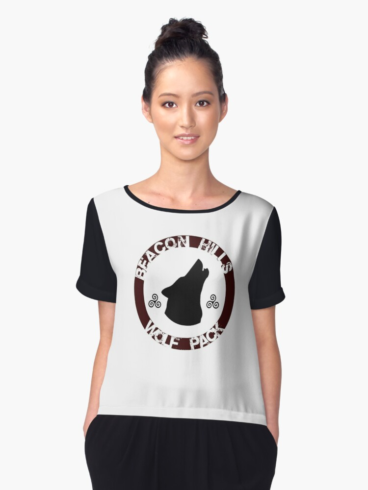 Beacon Hills Wolf Pack Women's Chiffon Top Front