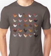 Chicken Breeds (captionless) Unisex T-Shirt