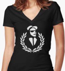 RUDEBOY SKA Women's Fitted V-Neck T-Shirt