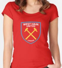 WEST HAM UNITED FC Women's Fitted Scoop T-Shirt