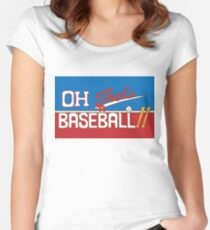 Oh! That's a Baseball!! JJBA Jojo's Bizarre Adventure Women's Fitted Scoop T-Shirt