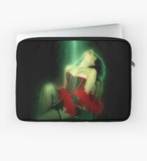 Young sexy woman in corset and fishnet stockings  Laptop Sleeve