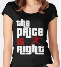The Price Is Right Boston Baseball Pitcher Women's Fitted Scoop T-Shirt