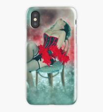 Young sexy woman in corset and fishnet stockings  iPhone Case/Skin