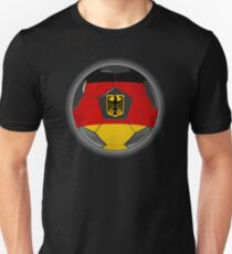 Germany - German Flag - Football or Soccer Unisex T-Shirt