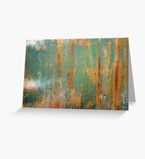 Green Abstract Greeting Card