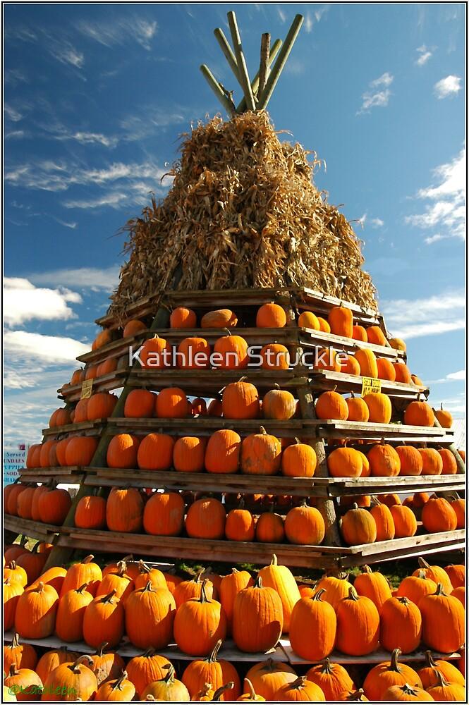 Tee Pee Of Pumpkins by Kathleen Struckle