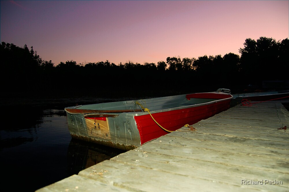 Little Red Row Boat by Richard Peden