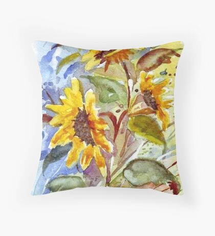 Stray Sunflowers Throw Pillow
