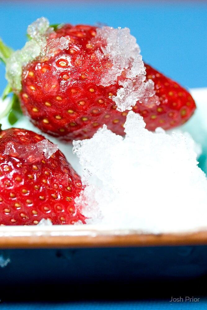 Iced Strawberries by Josh Prior