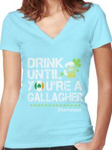 St Patrick's Day - Shameless Women's Fitted V-Neck T-Shirt
