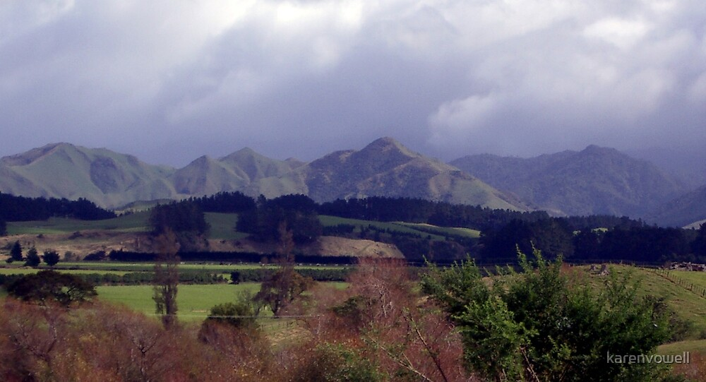 Ranges in new Zealand by karenvowell