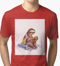 Cozy Sloth Tri-blend T-Shirt