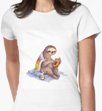 Camiseta entallada para mujer Cosy Sloth