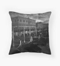 Gondolas in Venice, Italy Throw Pillow