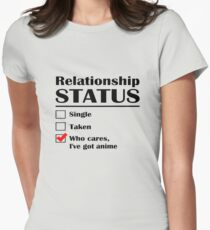Relationship Status Anime Womens Fitted T-Shirt