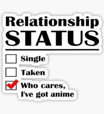 Relationship Status Anime Sticker