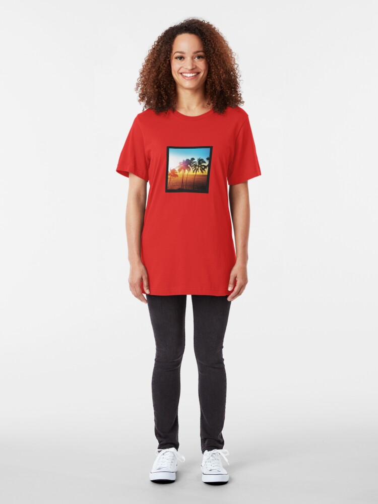 Alternate view of Hawaiian Sunrise Slim Fit T-Shirt