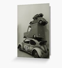 Stacked Toy Cars Greeting Card
