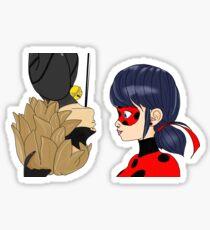 LadyNoir Spider-Man esque Kuss Sticker