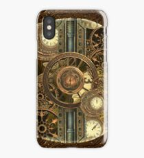 Steampunk, awesome clocks iPhone Case/Skin
