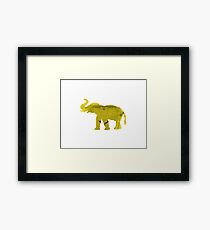 Yellow Elephant Framed Print