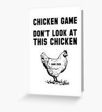 Das Huhn Spiel Grußkarte