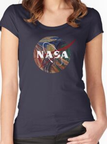 NASA The Scream Women's Fitted Scoop T-Shirt