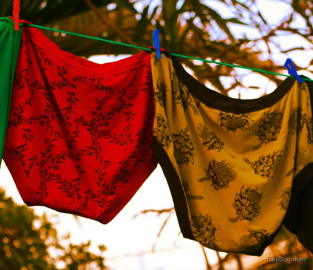 Knickers............. Not to be confused with knockers although both tend to lose their elasticity in time!! by freebornman