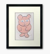 Pinkie Fluff Framed Print