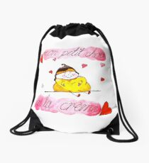 mon petit chou - my little cream puff Drawstring Bag