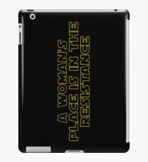 A woman's place is in the resistance iPad Case/Skin