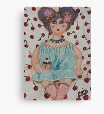 Paper mache doll  Canvas Print